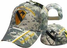 US Army 1st Cavalry Division Camo The First Team Shadow Cap Hat TOPW
