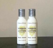 CRABTREE and Evelyn 2 Verbena and Lavender Body LOTION 24 ml ea (Lot of 2) NEW