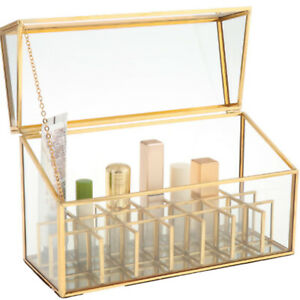 Makeup Cosmetic Brushes Holder Transparent Organizer Jewelry Storage Box