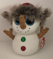 """Ty Beanie Boos 6"""" Buttons the Christmas Snowman 2018 Plush Toy New With All Tags"""