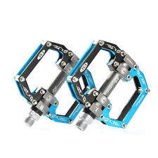 RockBros Road Mountain Bike Cycling Pedals Aluminum Alloy Sealed Bearing Blue