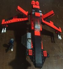 """Custom Lego Star Wars Anhure Class Old Republc Star Fighter with """"Bandit"""" Pilot"""
