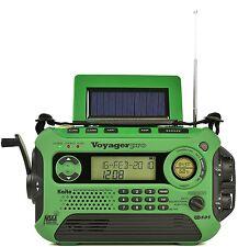 Used Kaito KA600L Solar Crank NOAA Weather Radio with AM FM Shortwave - Green