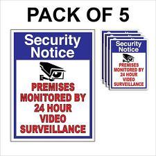 5 CCTV VIDEO SURVEILLANCE Security Burglar Alarm Decal  Warning Sticker Signs