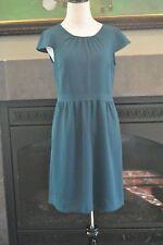 NWT J Crew Petite Crepe Cap Sleeve Dress Sz 10P 10 $188 Bristol Blue 04963