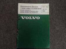 1981 Volvo Modèles Essence Moteurs Maintenance Service Manuel Usine OEM