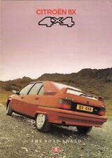 Citroen BX 4x4 GTi & Estate 1990-91 UK Market Sales Brochure