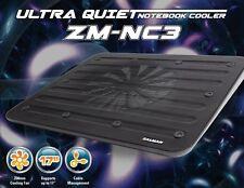 """Zalman ZM-NC3 Nero Ultra Silenzioso NOTEBOOK COOLER fino a 17"""", 200mm Ventilatore, Uomo del Cavo"""