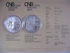 República Checa 2011 200 coronas moneda de plata coin St bu-Conservatorio de Praga -