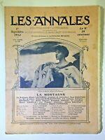 Les Annales N°1523 - 1 septembre 1912, La Montagne, Partition