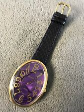 Vintage Pierre 38mm Ladies Watch Purple Leather Band New