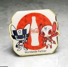 OLYMPIC PINS BADGE 2020 TOKYO JAPAN MASCOTS COKE COCA COLA SPONSOR GOLDEN