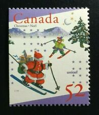 Canada #1628as Left MNH, UNICEF and Christmas Booklet Stamp 1996