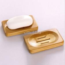Hot Natural Wooden Bamboo Bathroom Shower Soap Dish Storage Holder AU