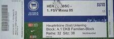 TICKET 2009/10 Hertha BSC Berlin - FSV Mainz