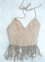 LADIES WESTERN/ COW GIRL FRINGED TOP SZ 12,VGC! STRAPPY