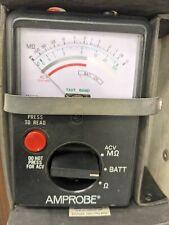 Amprobe Amb 1aanalog Megohmmeter Insulation Tester 0 600v Acdc Tested Working