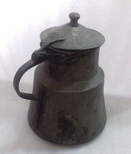 -ANTIQUE 18`c ISLAMIC Turkish Ottoman EWER TOMBAK Pitcher Tinned Copper Ibrik