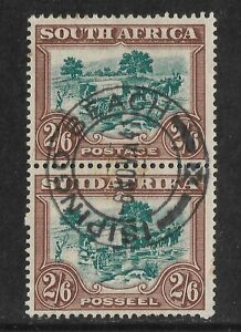 SOUTH AFRICA 1930-44 Ox wagon SG49 Good Used.