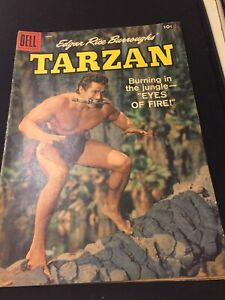 Dell Silver Age Comic Tarzan #105 June 1958-Burning in the Jungle -