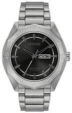 Citizen Super Titanium Black Dial Mens Watch Aw0060-54h