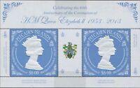 Pitcairn Islands 2013 SG883a QEII Coronation sheetlet MNH