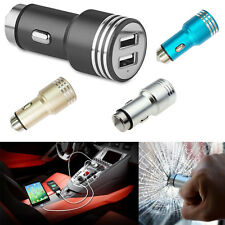 CHARGEUR VOITURE ALLUME CIGARE USB DOUBLE PORT 3A UNIVERSEL IPHONE SAMSUNG iPAD