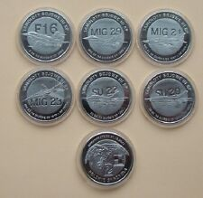 Set 6 monete polacco aeroplani da guerra