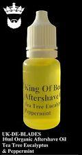 10ml Post / After Shave Oil Tea Tree Eucalyptus & Peppermint  UK DE BLADE