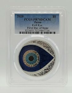 Palau - 2020 - Evil Eye - Silver Proof Coin - PCGS PR70 DCAM First Day of Issue