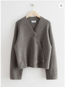 Sold Out -  Relaxed Asymmetrical Knit Cardigan -  & Other Stories