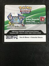 25x LOT Pokemon Sun & Moon CELESTIAL STORM UNUSED ONLINE CODE CARDS!!