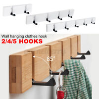 2/4/5 Hooks Key Coat Clothes Hat Door Holder Home Rack Hook Wall Mounted Hanger