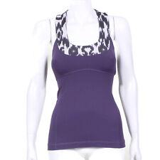 2d00c94668bb76 LULULEMON Purple White T-back Animal Print Tank Top Womens size 4 - INV 5618
