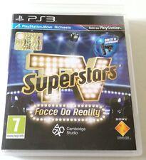 SUPERSTARS TV FACCE DA REALITY GIOCO PS3 PLAYSTATION 3 ITALIANO PERFETTO!!