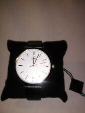 Men's AKRIBOS XXIV WatchAS1033SS White Crystal Black Leather Wrist Band Size 10