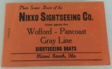 NIKKO SIGHTSEEING CO. - VINTAGE PHOTOS SCENIC ROUTE MIAMI BEACH, FLA. FROM BOAT