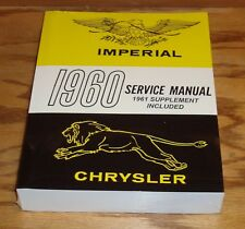 1960 1961 Chrysler & Imperial Shop Service Manual 60 61
