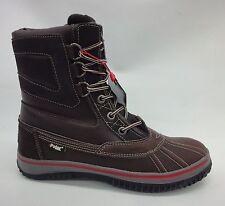 Pajar Mens Tuscan No Fur Boots F15/44593 Dark Brown Size 9-9.5 US/42-EU