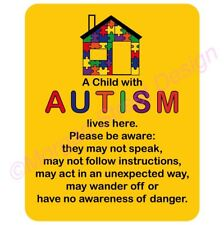 AUTISM Awareness For Your Home Decal Sticker. Die Cut Two Sizes