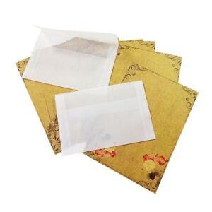 Translucent Envelopes 50pcs Korea Vintage Blank Vellum Multi Function Diy Gift