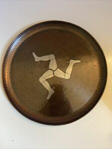 Vintage Victoria House Pewter & Copper Inlaid Tray Exclusive Edition Isle Of Man