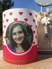 2xGeburtstag Tischlicht Windlicht Tischdeko mit Foto Name Alter Mädchen Geschenk
