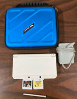 New Nintendo 3ds Super Mario White Edition, 3 Games, Carrying Case, And Charger