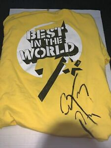 WWE 2011 CM Punk GTS Go To Sleep Best in the World T-Shirt  Size L Signed