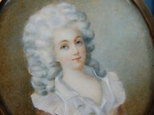 ANTIQUE PORTRAIT MINIATURE OF A BEAUTIFUL LADY IN AN OVAL FRAME