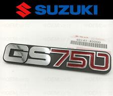 Genuine Suzuki Frame Cover SILVER Emblem GS 750 B/C/EC/EN/N 1977-1978-1979