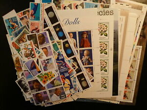 USA: 12) Collection stamps MNH (1990-2004). Face Value $ 262
