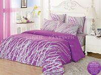 PURPLE TREE Queen/King Size Bed Quilt/Doona/Duvet Cover/Sheet Set Cotton New