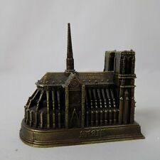 Notre Dame Church Cathedral Metal Souvenir Paris Paperweight SAP Polyne